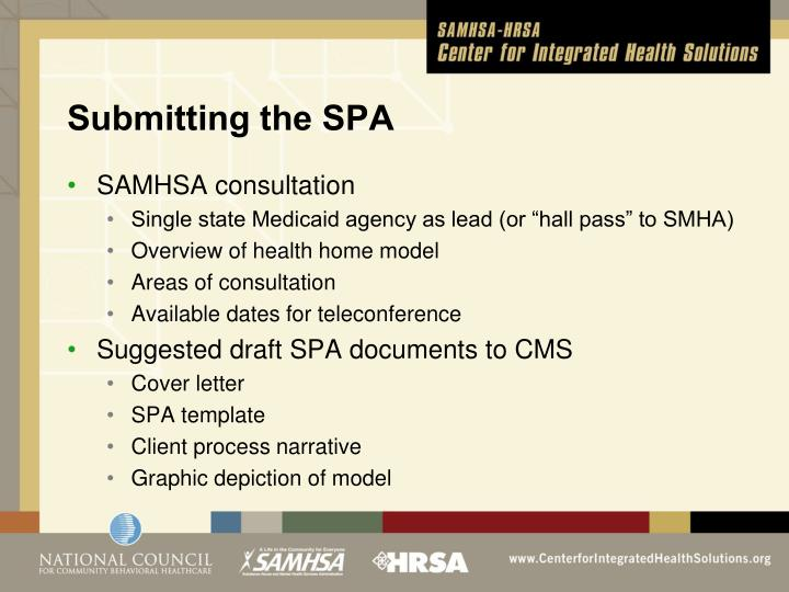 Submitting the SPA