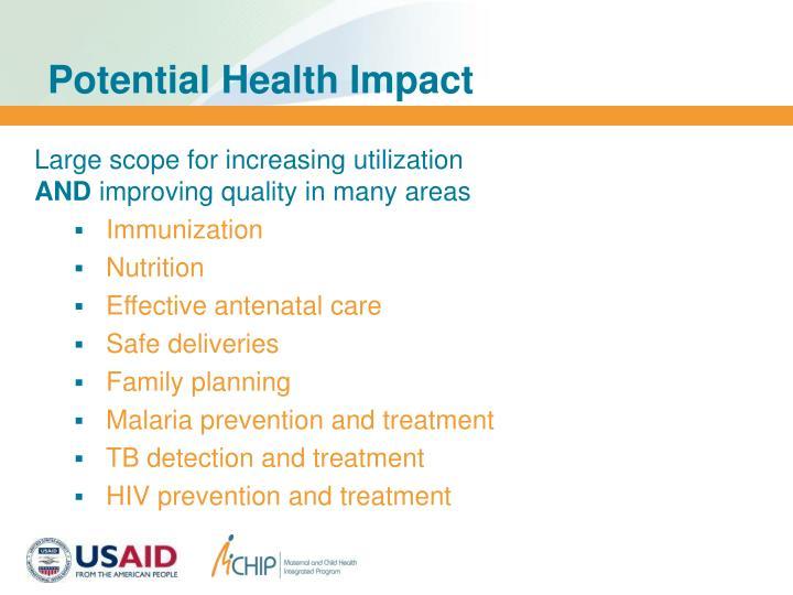 Potential Health Impact