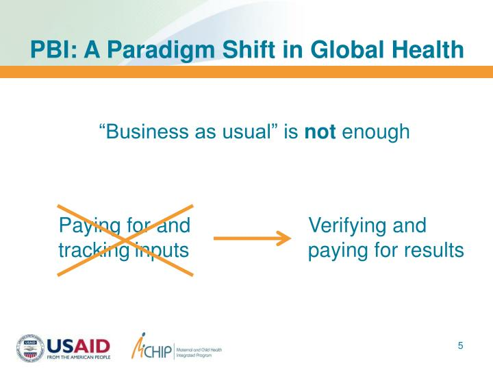 PBI: A Paradigm Shift in Global Health