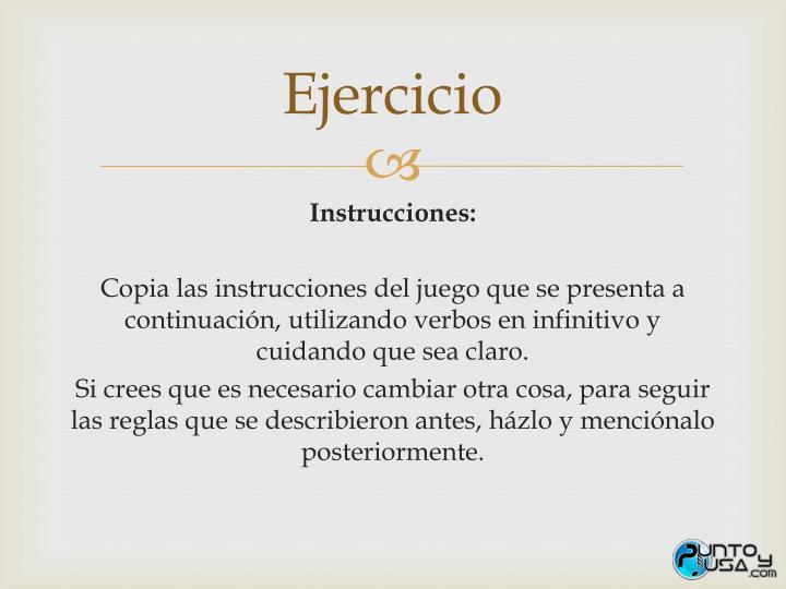 Ppt Instrucciones Powerpoint Presentation Id 4821923