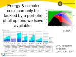 energy climate crisis can only be tackled by a portfolio of all options we have available