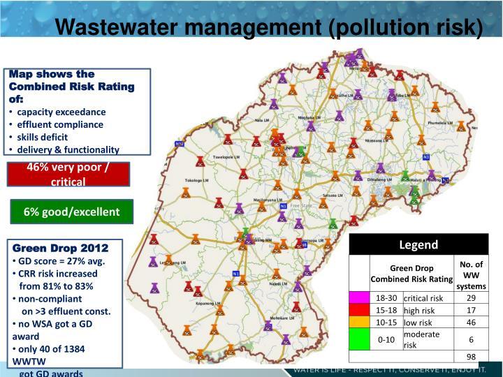 Wastewater management (pollution risk)