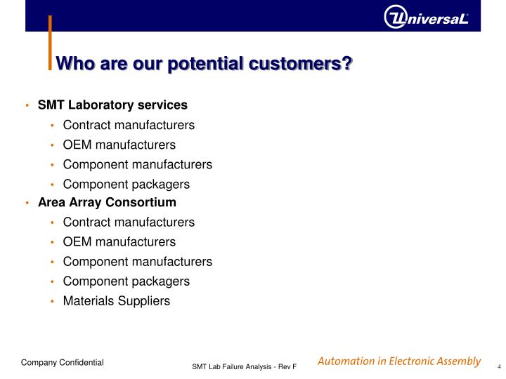 Who are our potential customers?