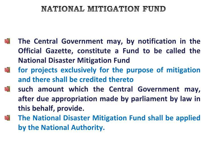 NATIONAL MITIGATION FUND