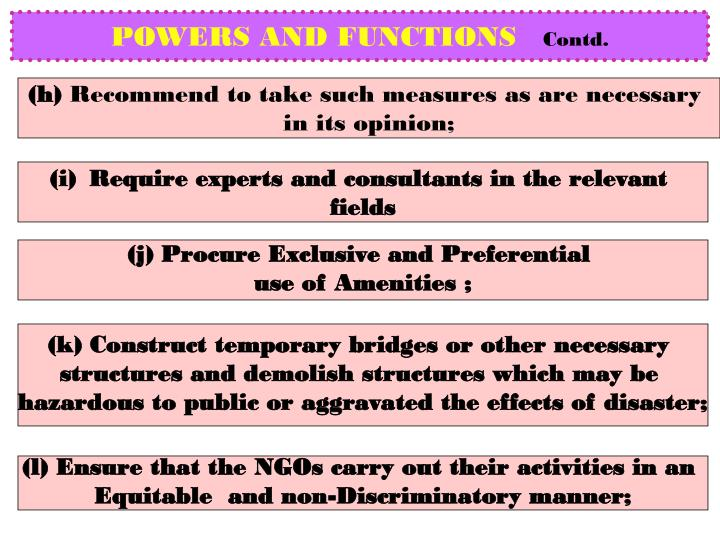POWERS AND FUNCTIONS