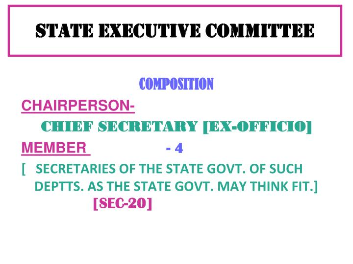 STATE EXECUTIVE COMMITTEE