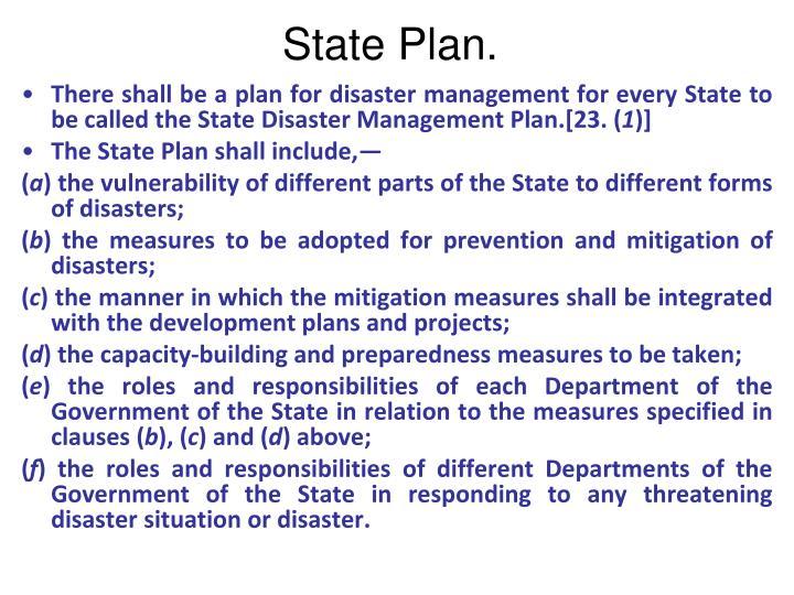 State Plan.