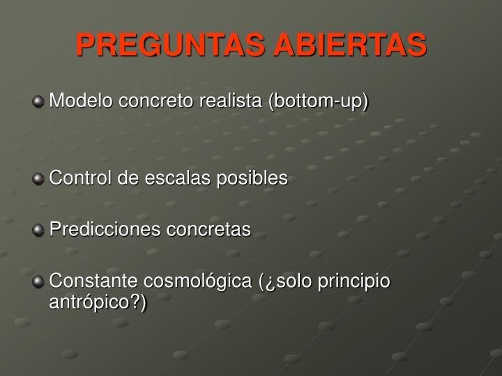 PREGUNTAS ABIERTAS