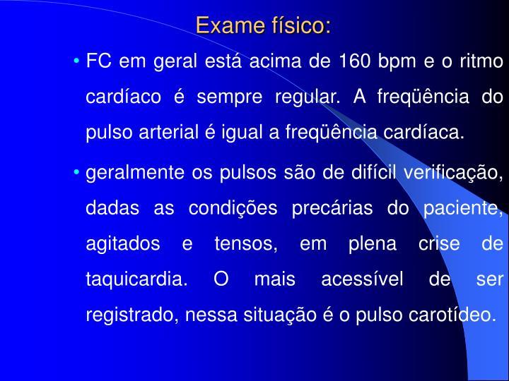 Exame físico: