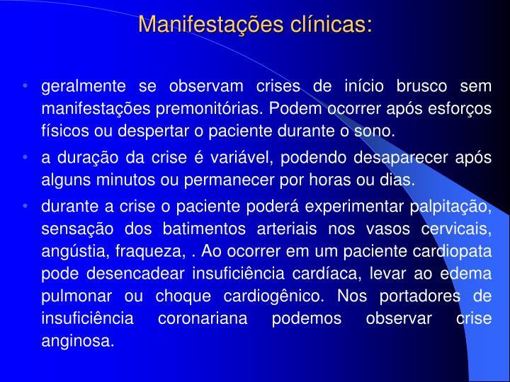 Manifestações clínicas: