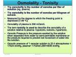 osmolality tonisity