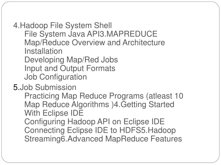 4.Hadoop File System Shell