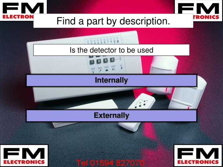 Find a part by description.