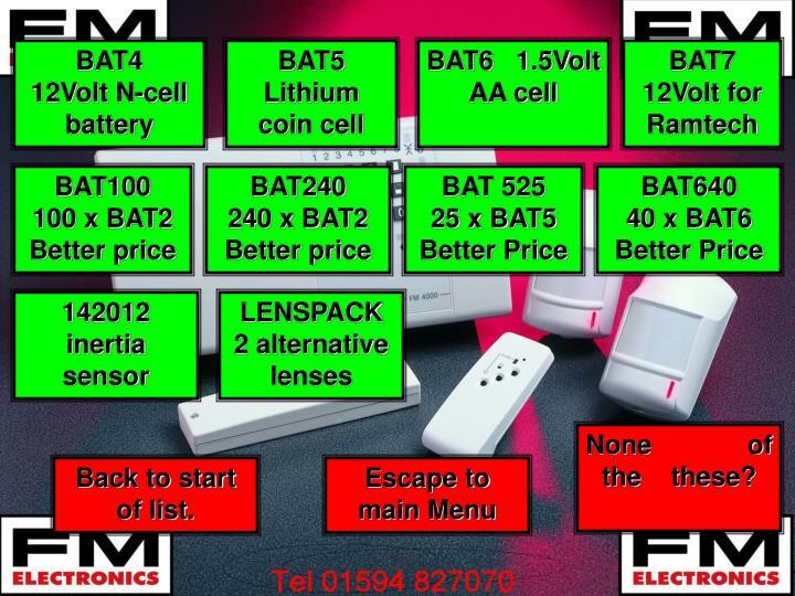 BAT4     12Volt N-cell battery