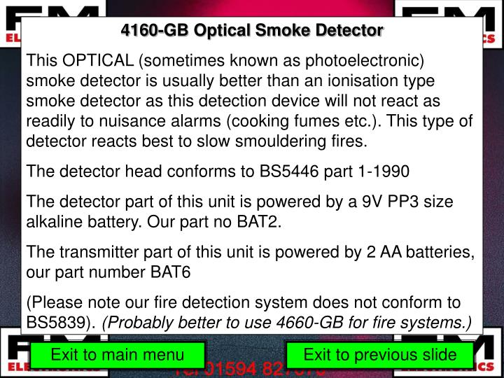 4160-GB Optical Smoke Detector