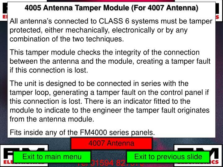 4005 Antenna Tamper Module (For 4007 Antenna)