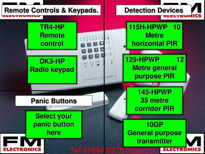 Remote Controls & Keypads.