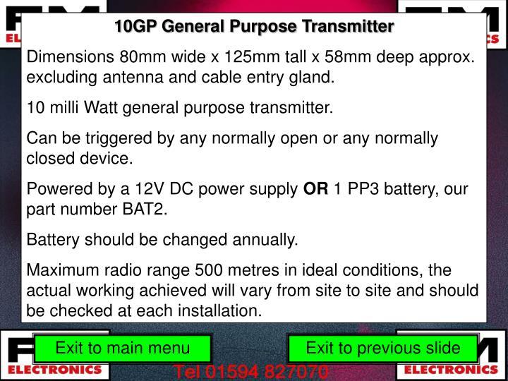 10GP General Purpose Transmitter