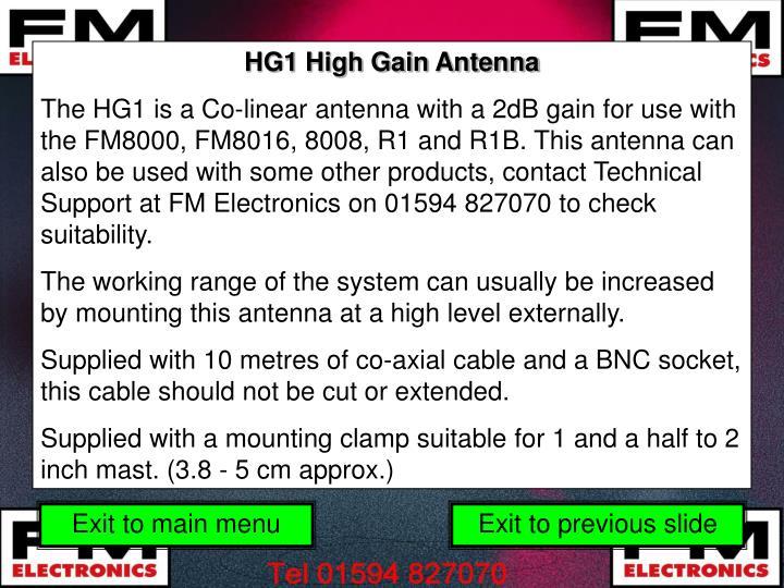 HG1 High Gain Antenna