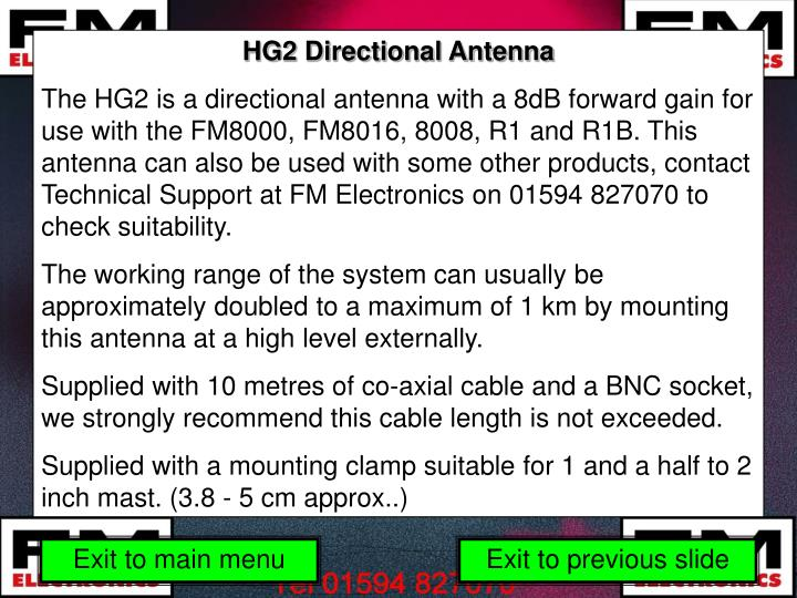 HG2 Directional Antenna