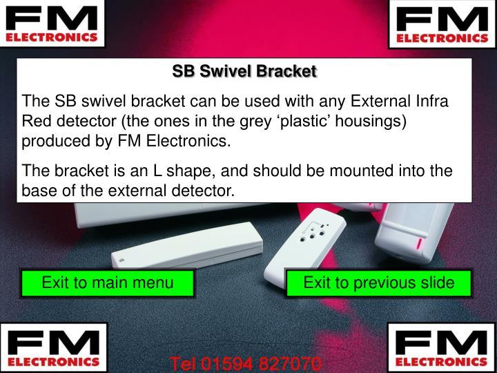 SB Swivel Bracket
