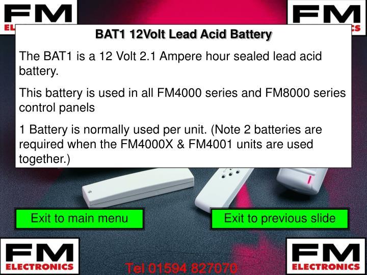 BAT1 12Volt Lead Acid Battery