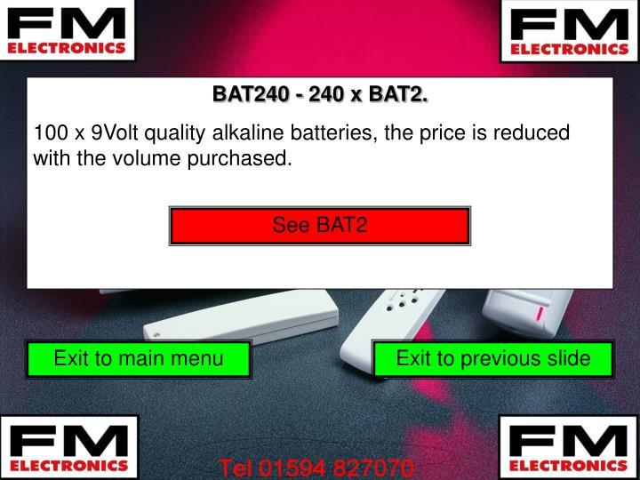 BAT240 - 240 x BAT2.