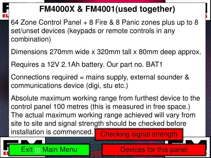 FM4000X & FM4001(used together)