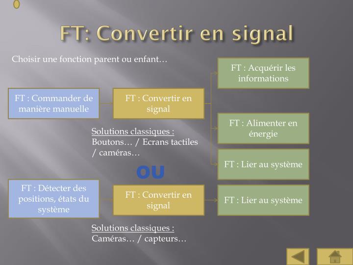 FT: Convertir en signal
