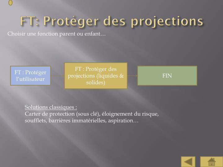 FT: Protéger des projections