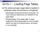 a4 ex 1 loading page tables