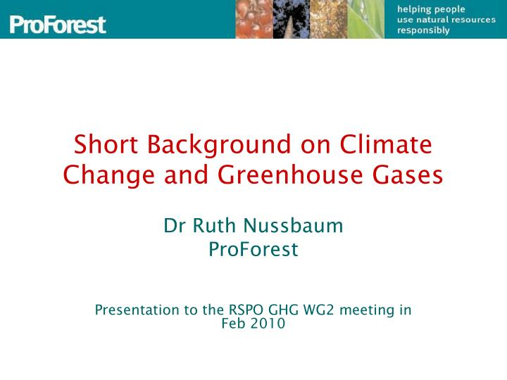 short background on climate change and greenhouse gases n.