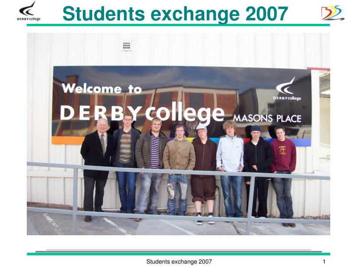 students exchange 2007 n.