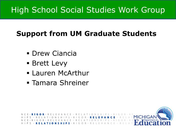 Support from UM Graduate Students