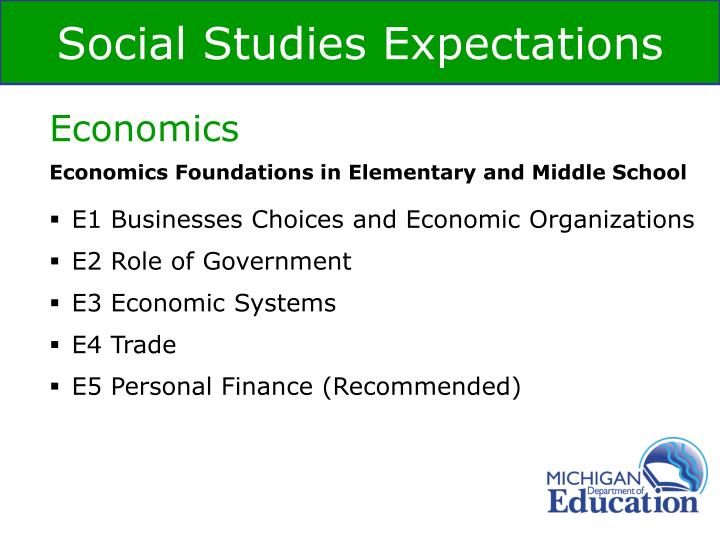 Economics Foundations in Elementary and Middle School
