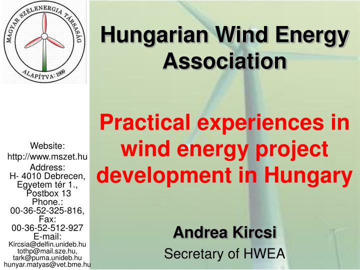 hungarian wind energy association n.