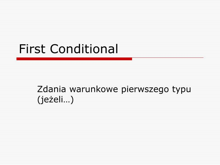first conditional n.