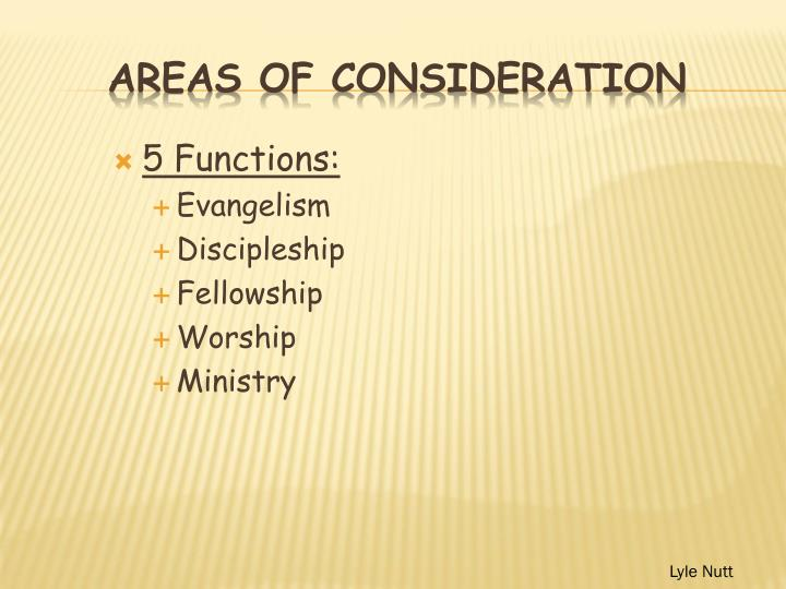 5 Functions: