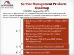 service management products roadmap