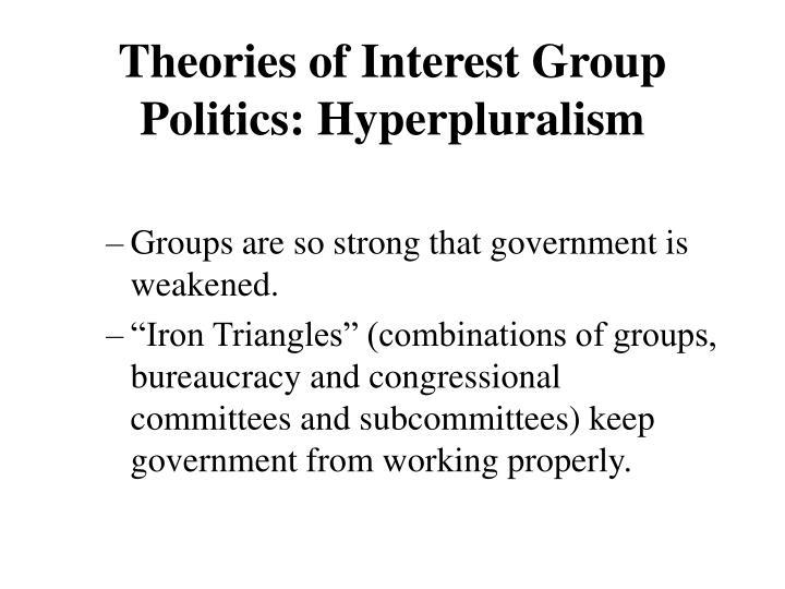 Theories of Interest Group Politics: Hyperpluralism
