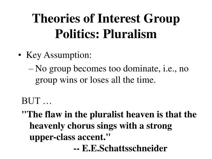 Theories of Interest Group Politics: Pluralism