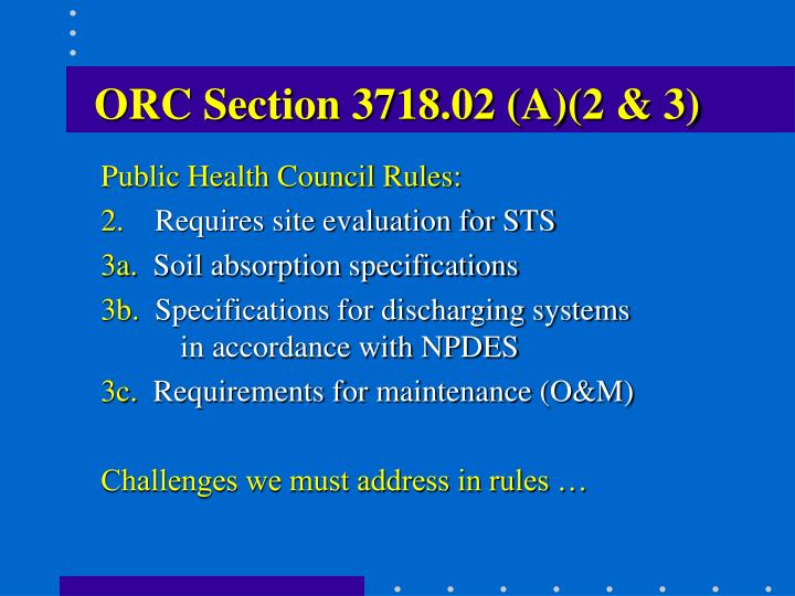 ORC Section 3718.02 (A)(2 & 3)