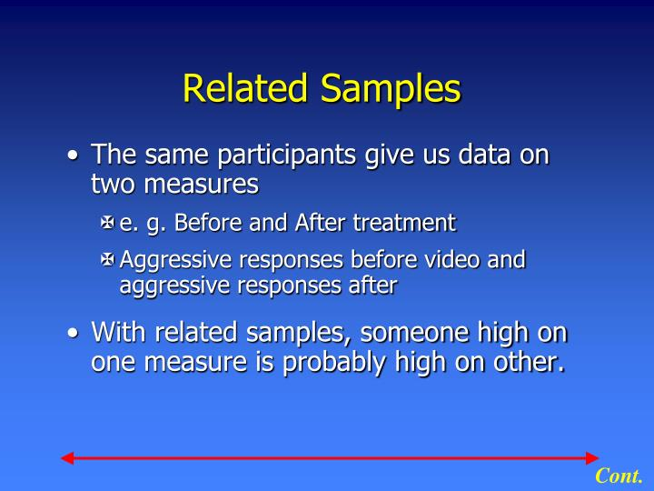 Related samples