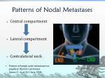 patterns of nodal metastases