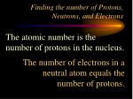 finding the number of protons neutrons and electrons