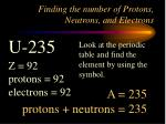 finding the number of protons neutrons and electrons2