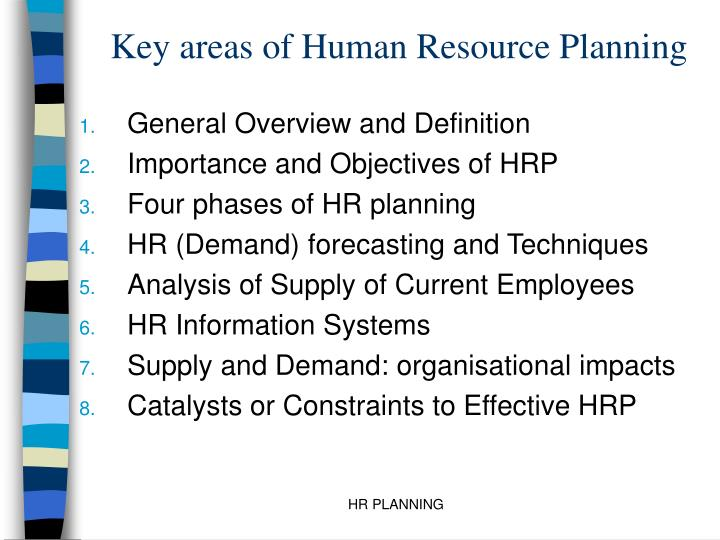 PPT - Key areas of Human Resource Planning PowerPoint