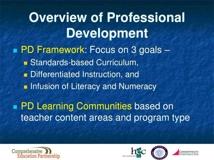 Overview of Professional Development