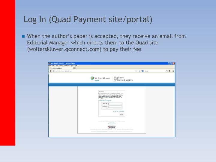 log in quad payment site portal n.