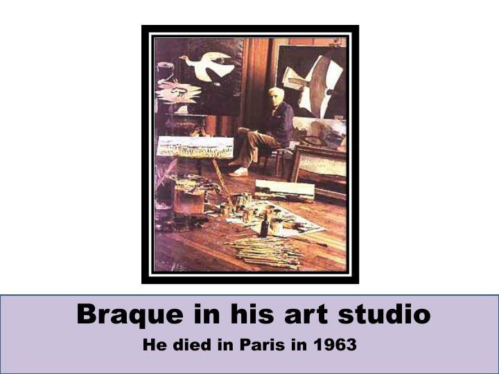 Braque in his art studio
